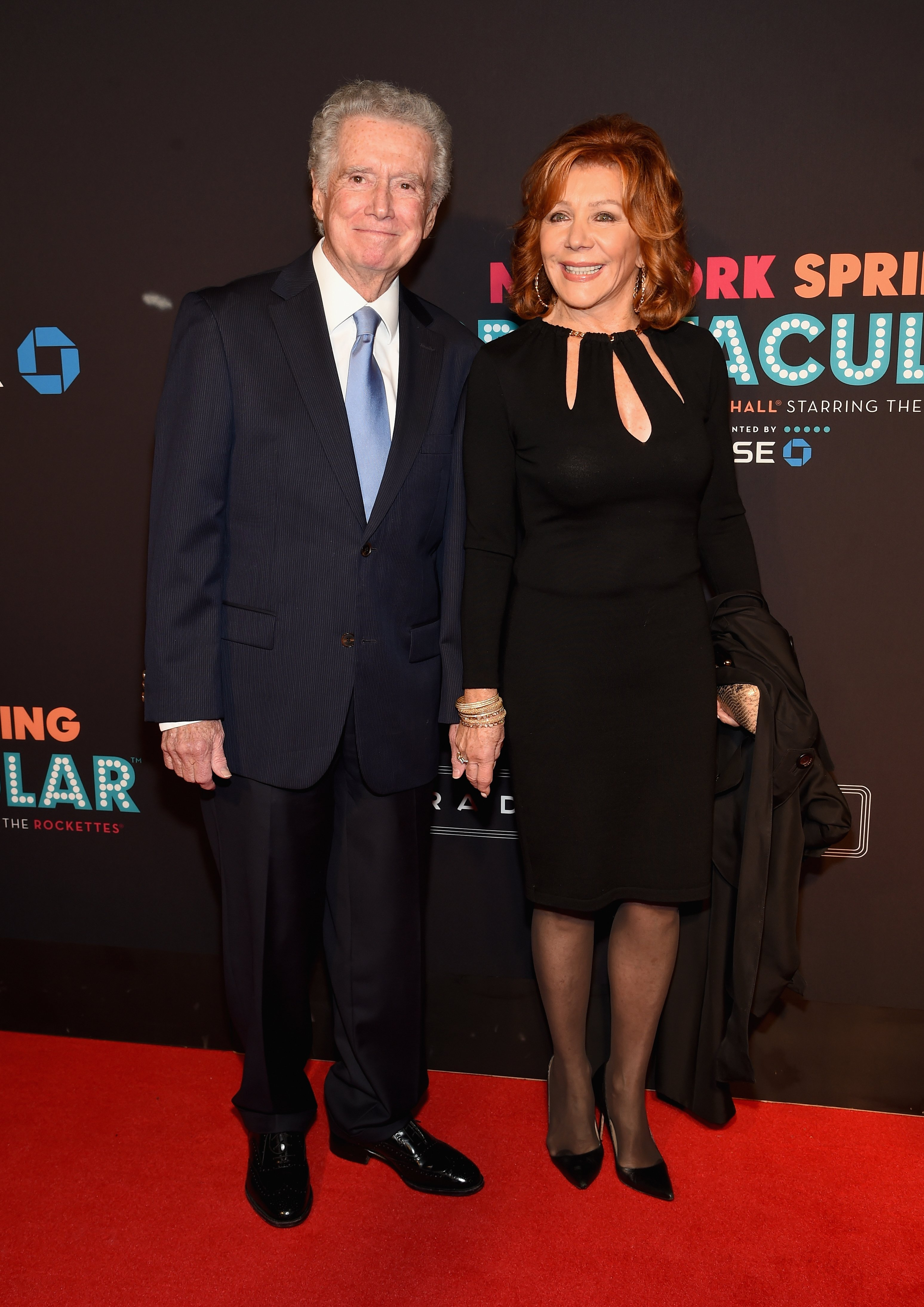 Regis Philbin and Joy Philbin attend the 2015 New York Spring Spectacular on March 26, 2015, in New York City. | Source: Getty Images.