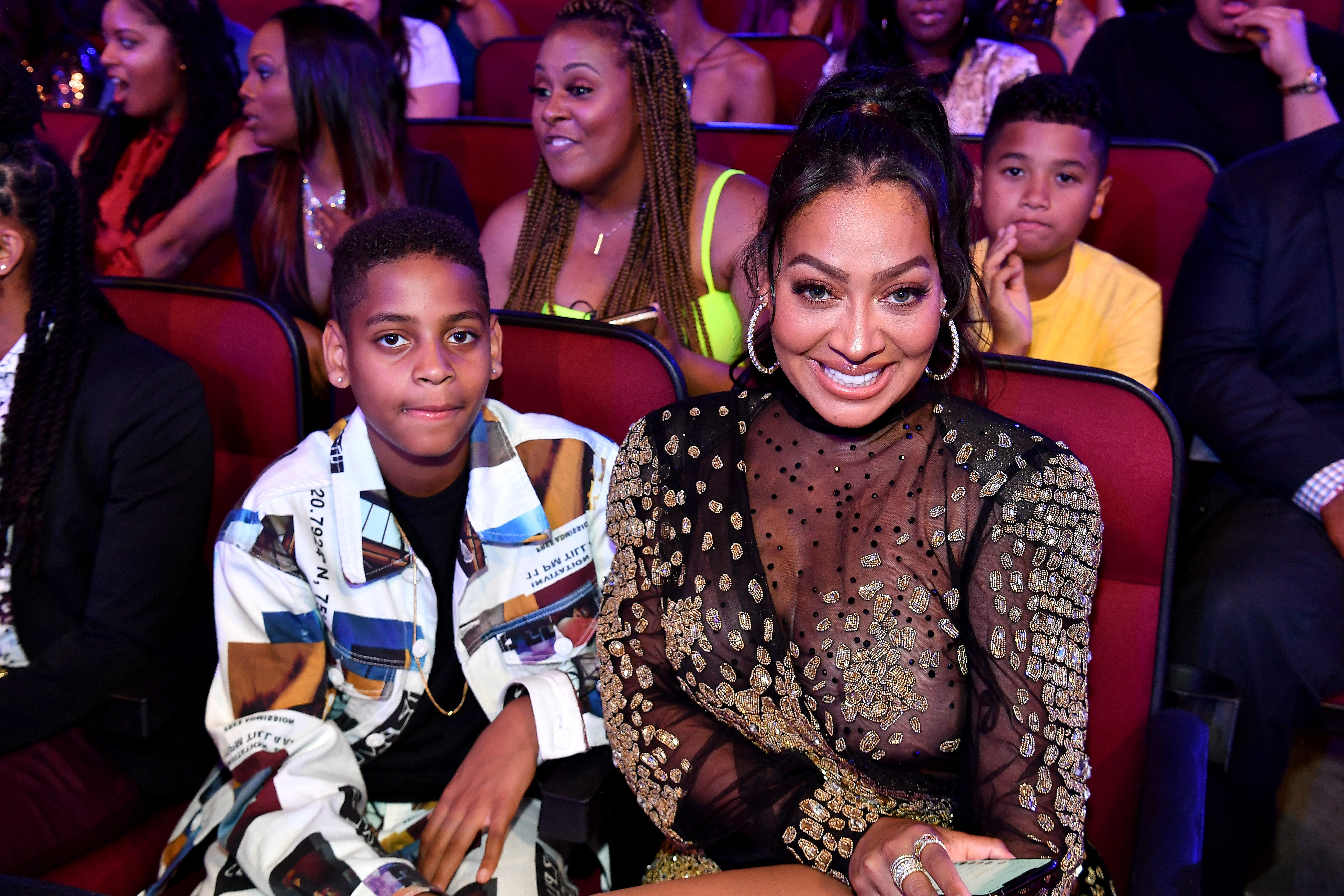 La La Anthony and her son with Carmelo Anthony, Kiyan, at the 2019 BET Awards. | Photo: Getty Images