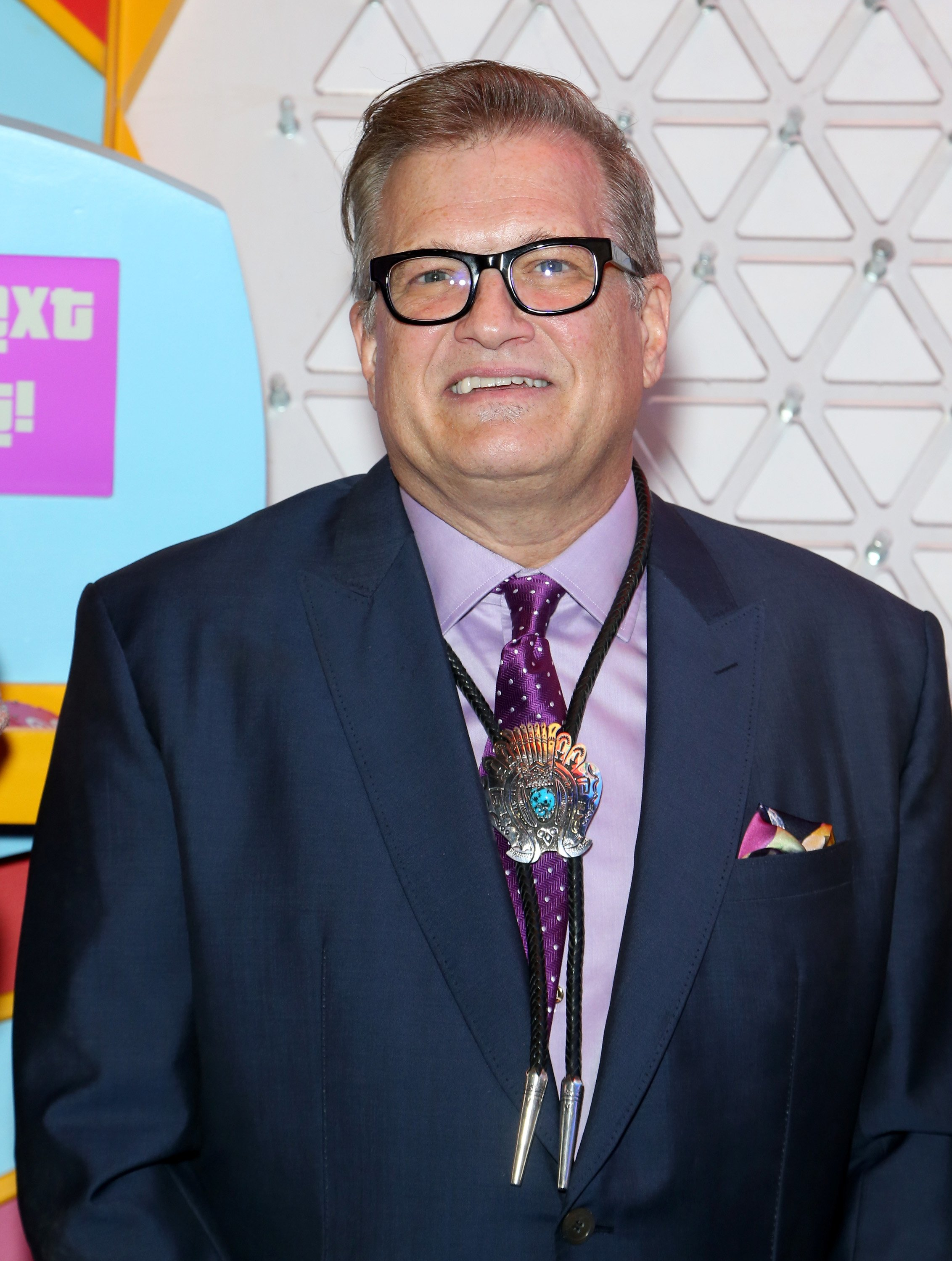 "Drew Carey stands in front of a Plinko game for the ""Price is Right"" Slot Machines announcement in Las Vegas, Nevada on October 10, 2018 
