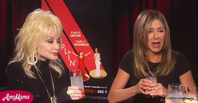 Dolly Parton shares tequila with Jennifer Aniston after claiming husband wants to sleep with her