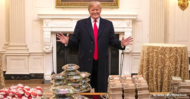 President Donald Trump mocked after serving fast food to Clemson Tigers during White House visit
