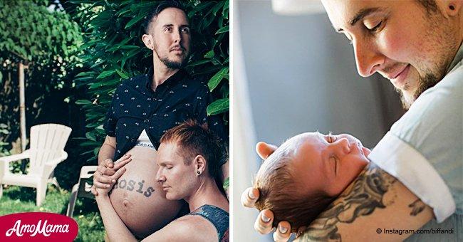 Un homme transgenre ayant donné naissance répond aux haineux avec humour et franchise