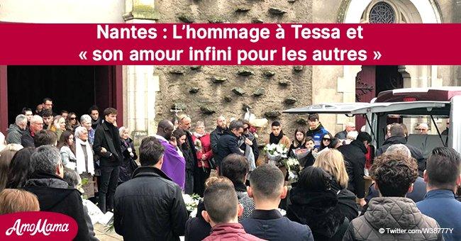 """Nantes: La foule aux funérailles de Tessa, 17 ans, rend hommage à la jeune fille innocente qui """"a tant aimé Noël"""""""