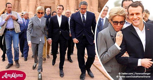 Un costume chic associé à des baskets à 620 € - la tenue de Brigitte Macron fait sensation en Egypte