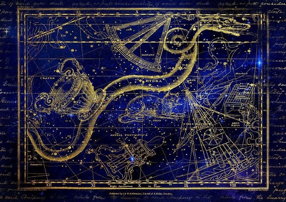Constelaciones, signos del zodiaco. | Imagen: Pixabay