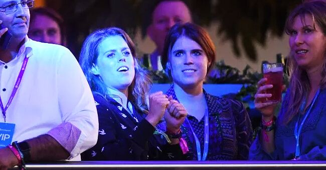 Princesses Eugenie and Beatrice Rock out at Céline Dion's London Concert