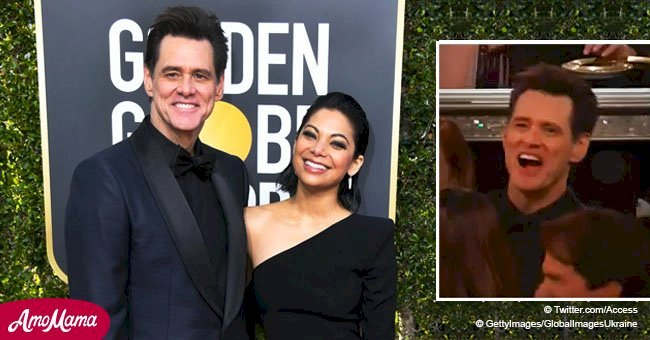 Jim Carrey was forced to leave his seat during Golden Globes where he showed off his new girlfriend