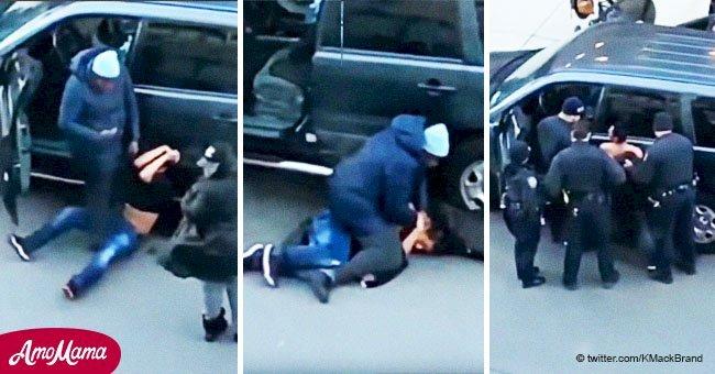 Intentó robarle su auto, pero la mamá era demasiado fuerte y lo sometió