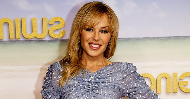 Check Out Kylie Minogue as She Flaunts Her Killer Legs Donning a Polka Dot Maxi Dress