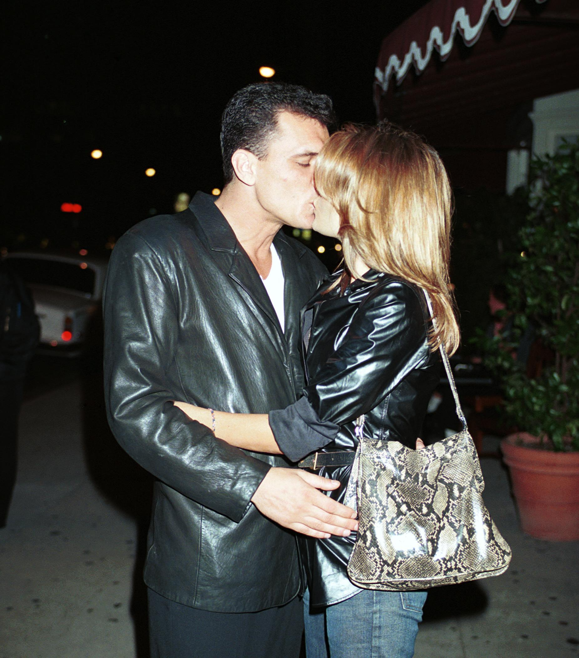 Tahnee Welch Plants A Kiss On Her Boyfriend Luca Palanca Outside Of The Atlantic Restaurant. | Source: Getty Images