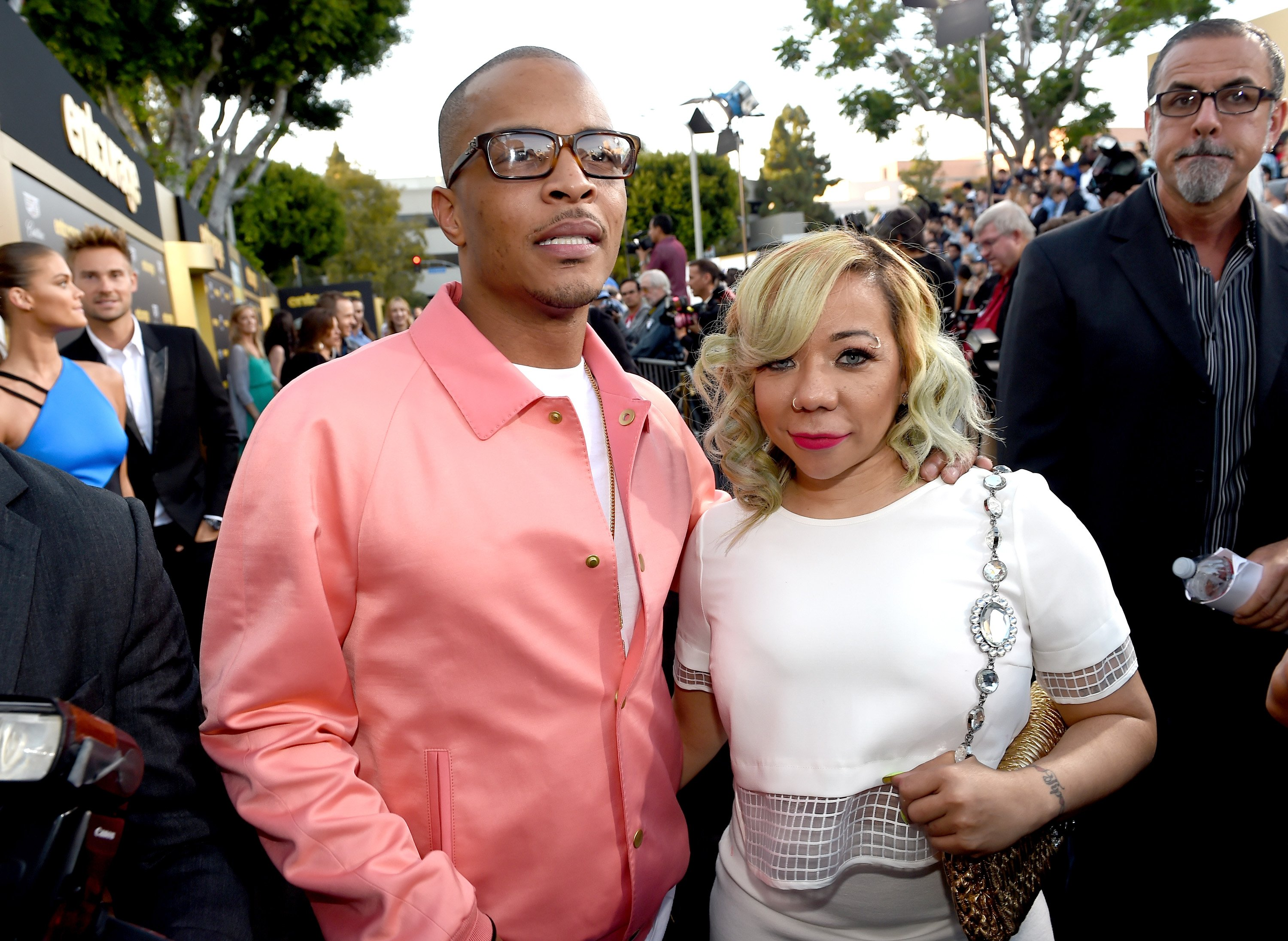 "T.I. and Tameka Cottle attend the premiere of Warner Bros. Pictures' ""Entourage"" at Regency Village Theatre on June 1, 2015 