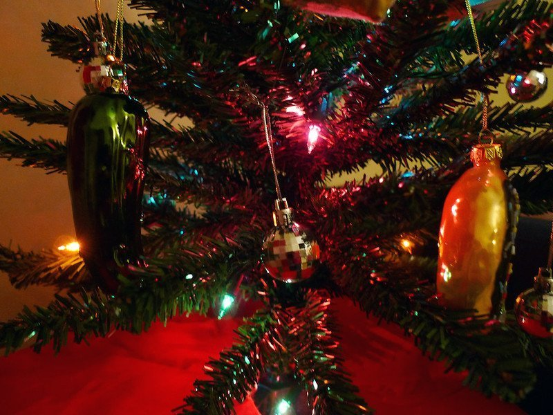 A Christmas pickle.   Source: Flickr