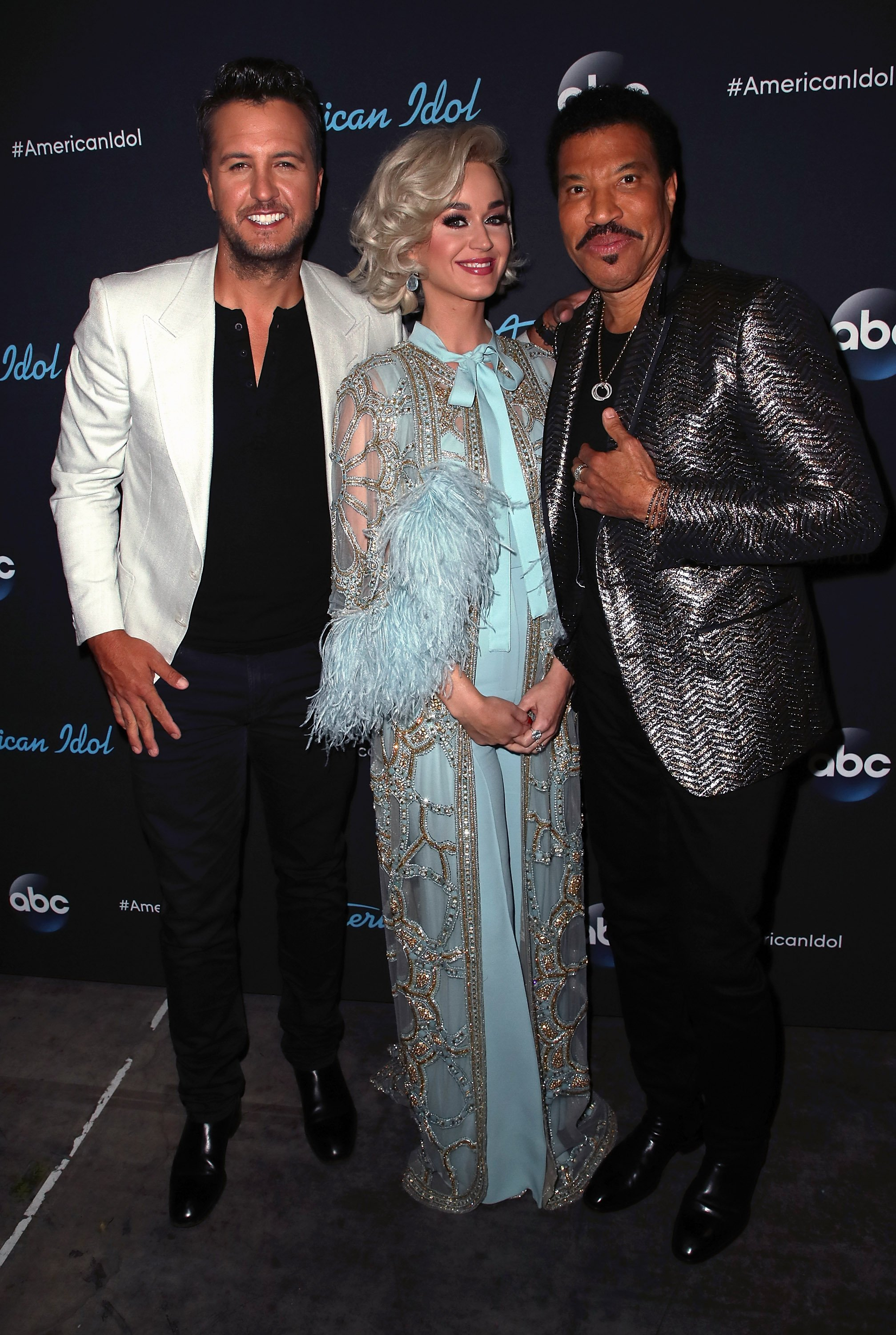 "Luke Bryan, Katy Perry and Lionel Richie attend ABC's ""American Idol"" on May 20, 2018, in Los Angeles, California. 