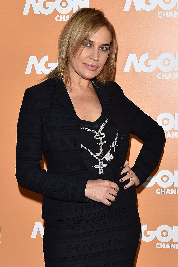 Lory Del Santo at photocall for the presentation of the new Italian digital channel Agon Channel at Terrazza Martini on November 25, 2014 in Milan | Photo: Getty Images