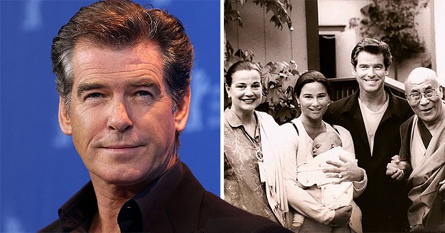 Pierce Brosnan Marks Dalai Lama's 85th Birthday with TBT Photo of When He Blessed His Son Paris