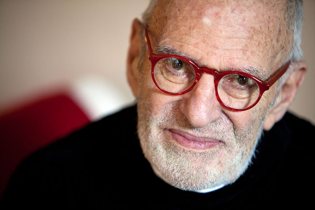 Playwright Larry Kramer of the production 'The Normal Heart' in his apartment in Manhattan, New York on April 22, 2012 | Photo: GettyImages