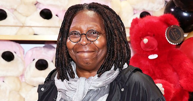 Whoopi Goldberg's Granddaughter Jerzey Kennedy Poses in Black Off-Shoulder Outfit and Face Mask