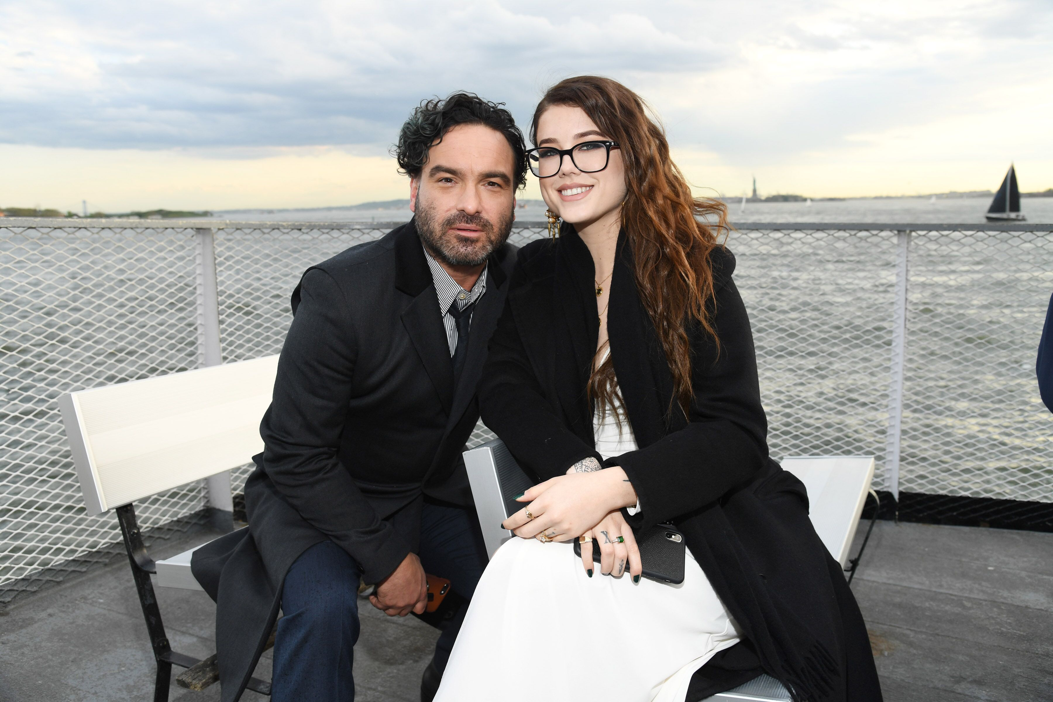 Johnny Galecki and Alaina Meyer attend the Statue Of Liberty Museum Opening Celebration at Battery Park on May 15, 2019 in New York City.  | Source: Getty Images