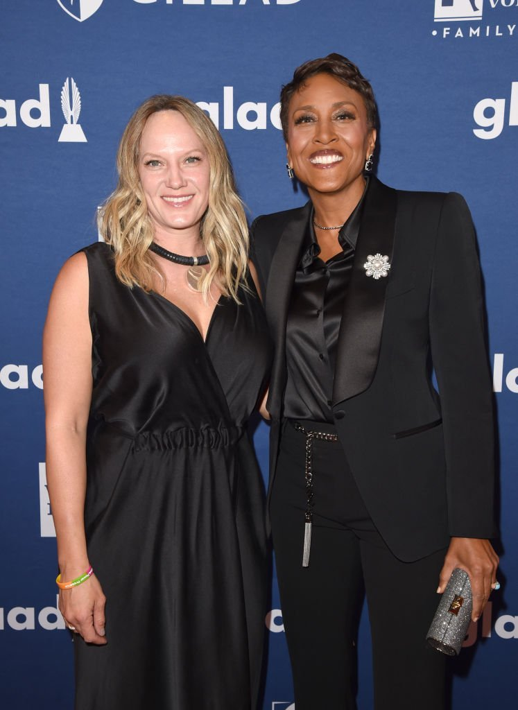 Robin Roberts and Amber Laign attend the 29th Annual GLAAD Media Awards at The Hilton Midtown | Getty Images
