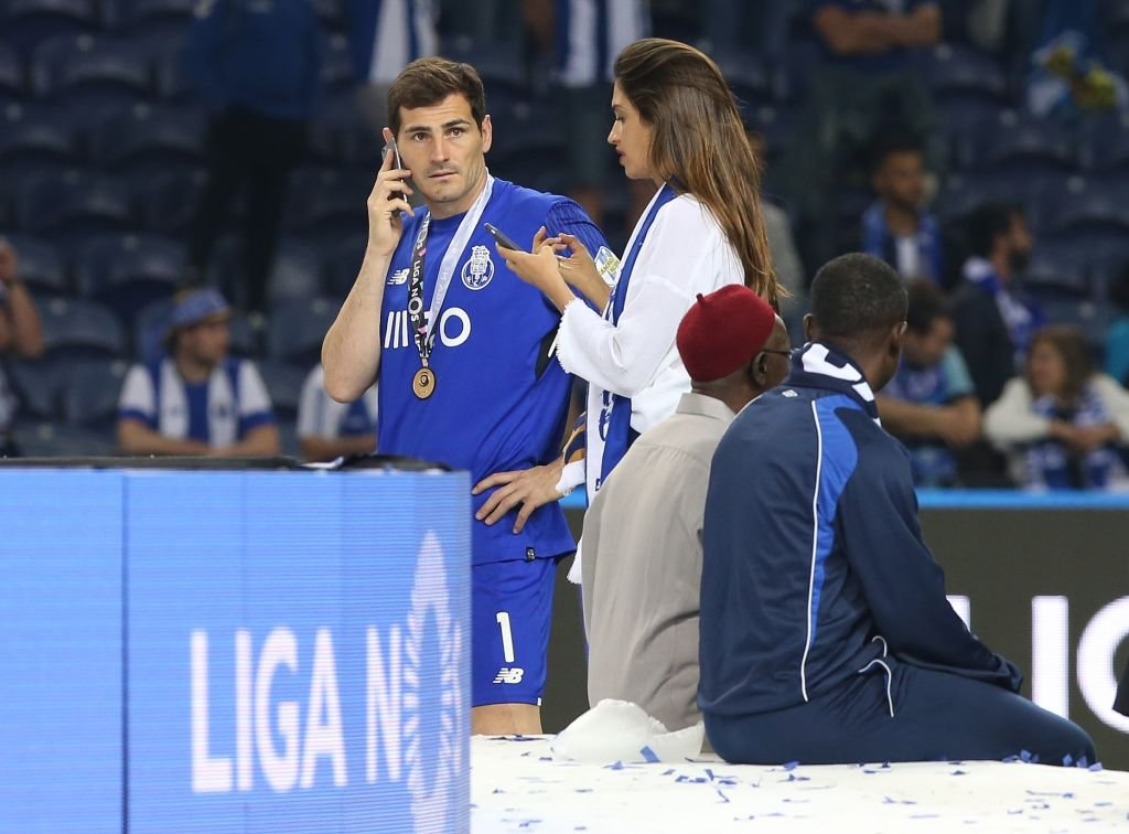 Iker y Sara durante las celebraciones del Campeonato FC Porto. l Fuente: Getty Images