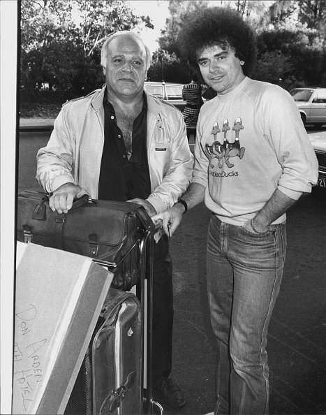 """Don Arden (Left), the Manager of the Australian group """"air supply"""" in Sydney on May 12, 1982 