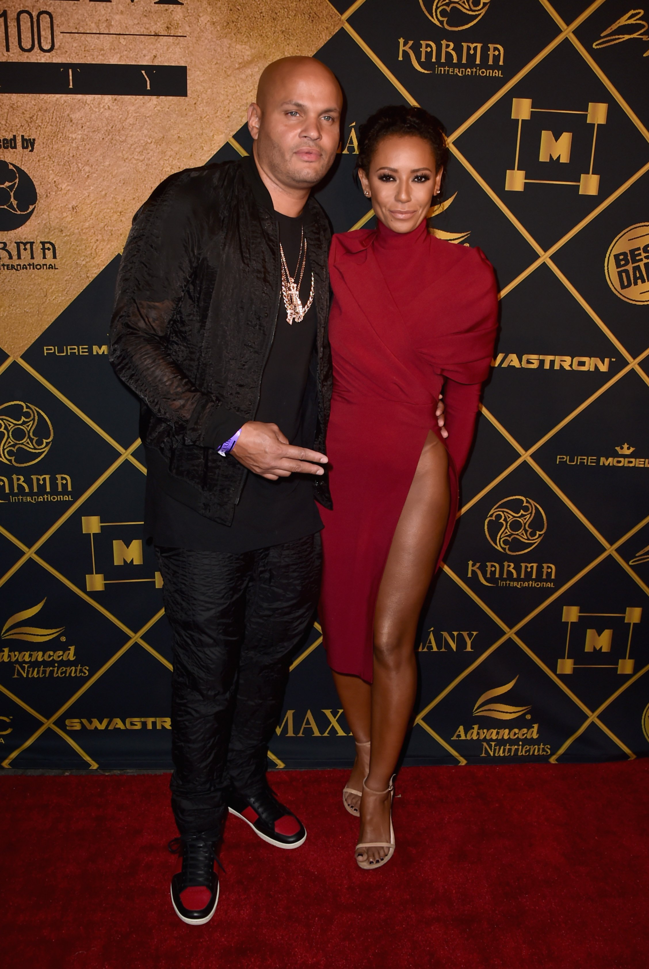 Source: Getty Images l Mel B and Stephen Belafonte at Maxim's Hot 100 Party in August 2016