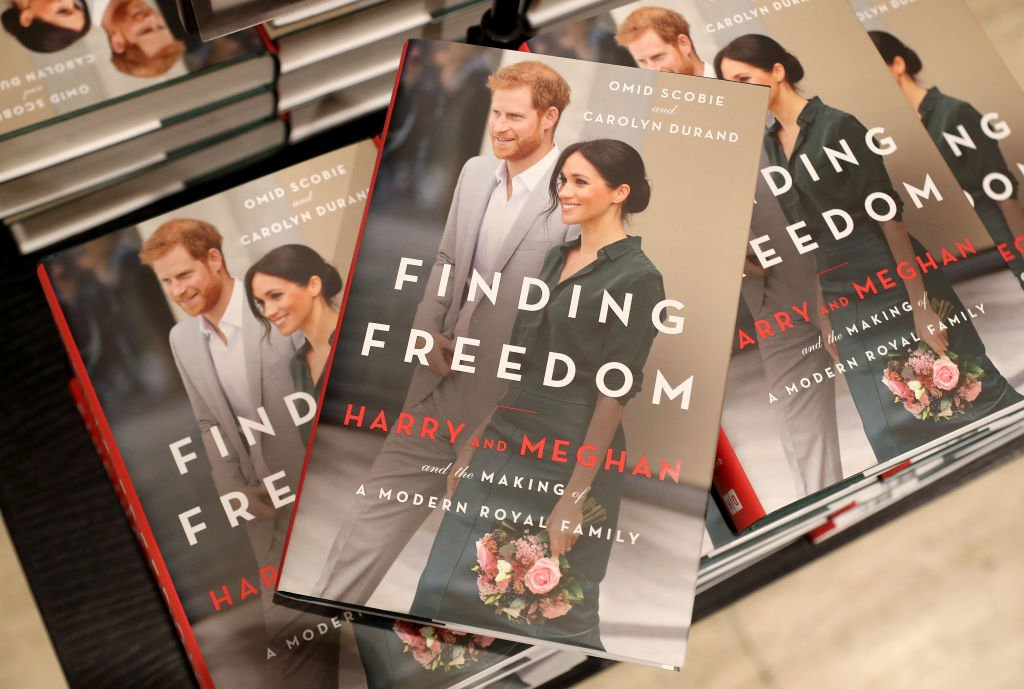 """Photos of the """"Finding Freedom"""" book in Waterstones Piccadilly in London, England on August 11, 2020 