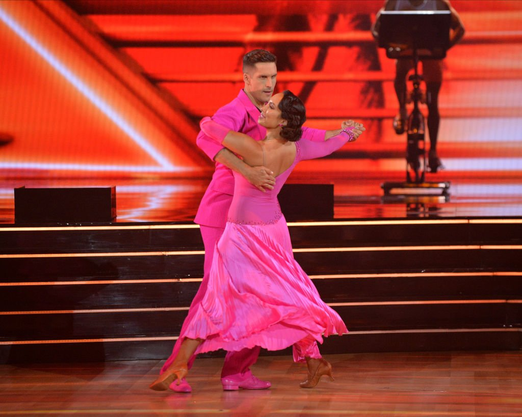"""Cody Rigsby and Cheryl Burke performing at the season 30 premiere of """"Dancing With The Stars,"""" September 2021   Source: Getty Images"""