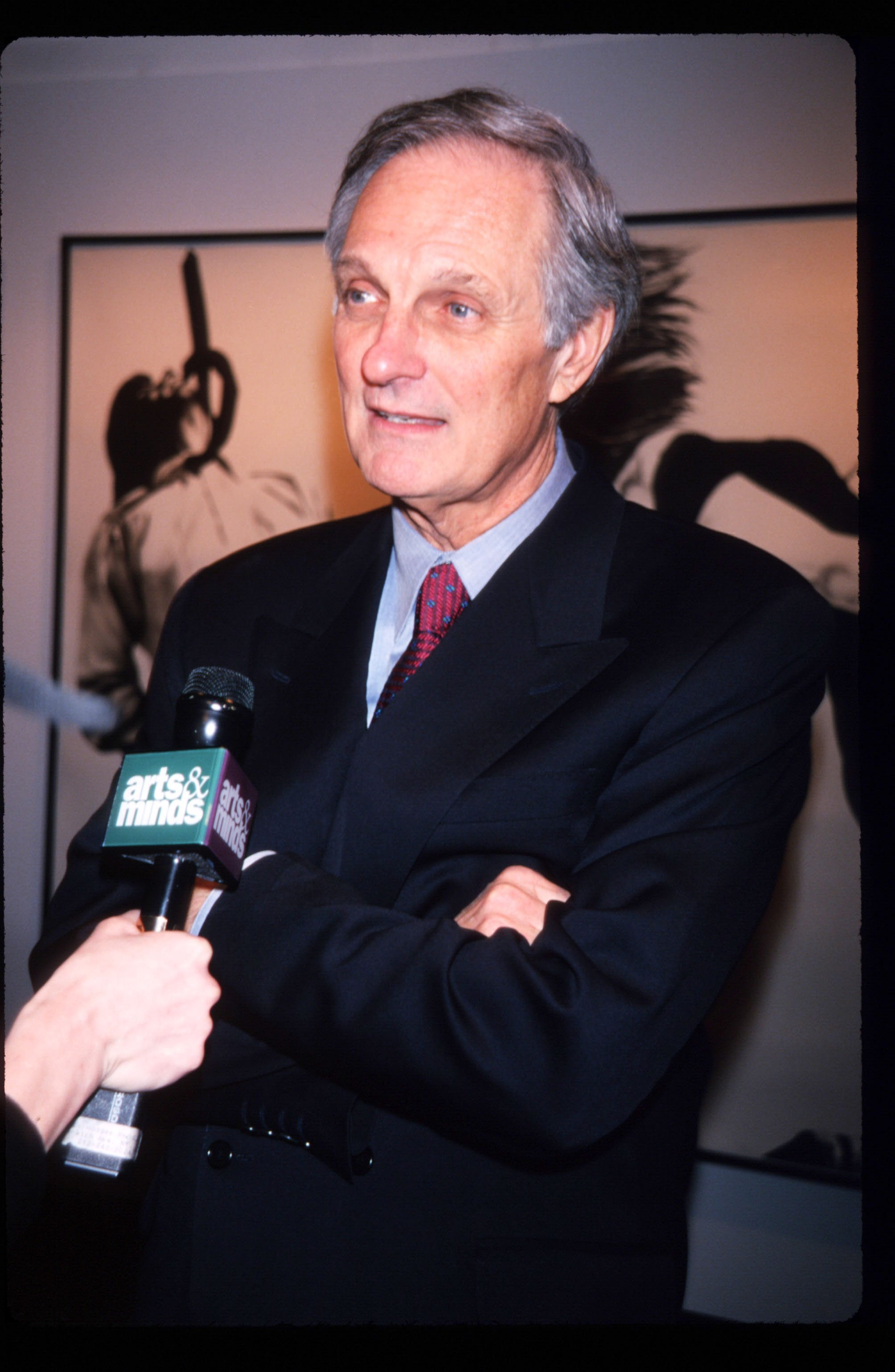 "Alan Alda attends the premiere of ""Art"" in New York City on March 1, 1998 