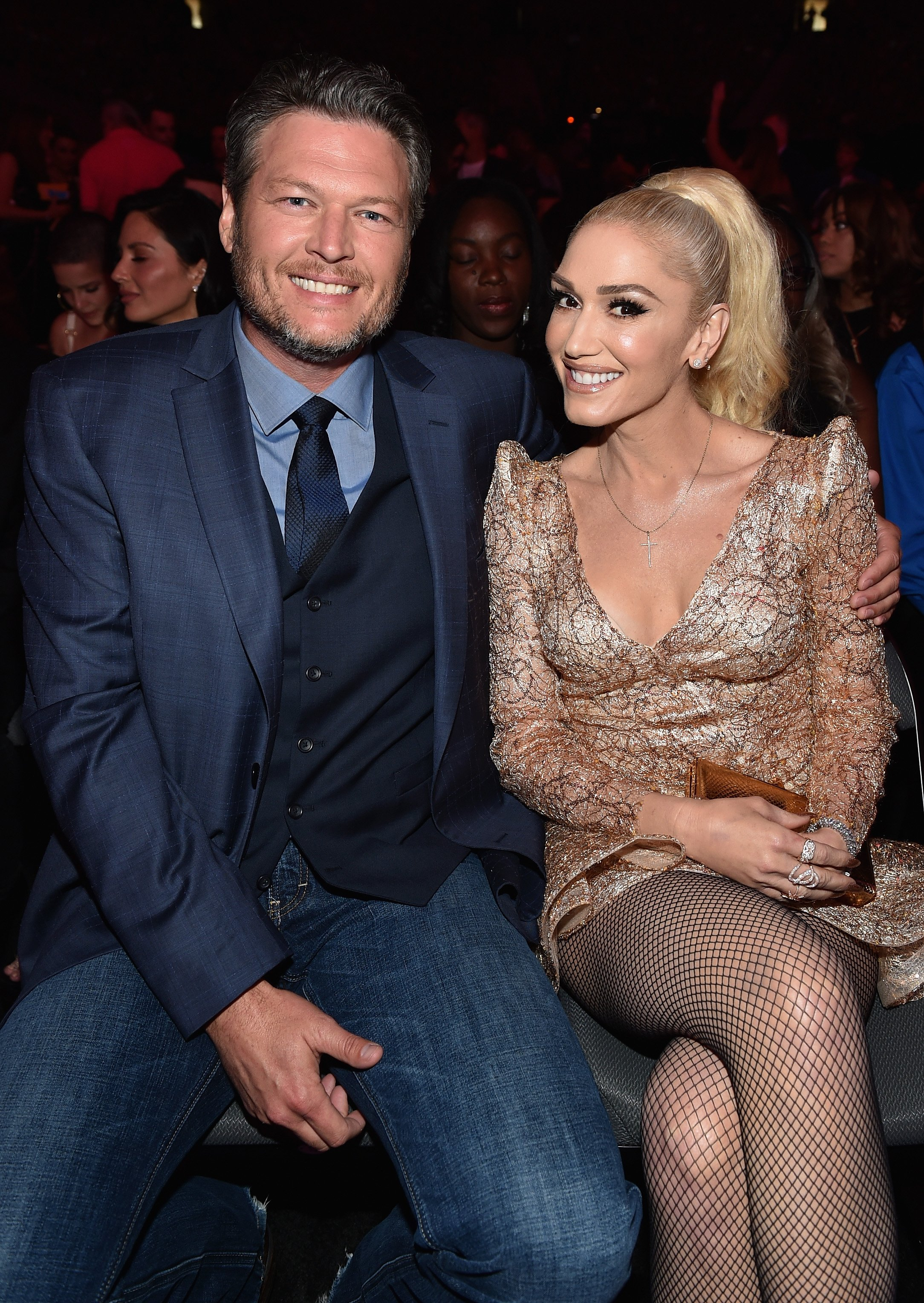 Blake Shelton and Gwen Stefani attend the 2017 Billboard Music Awards. | Source: Getty Images