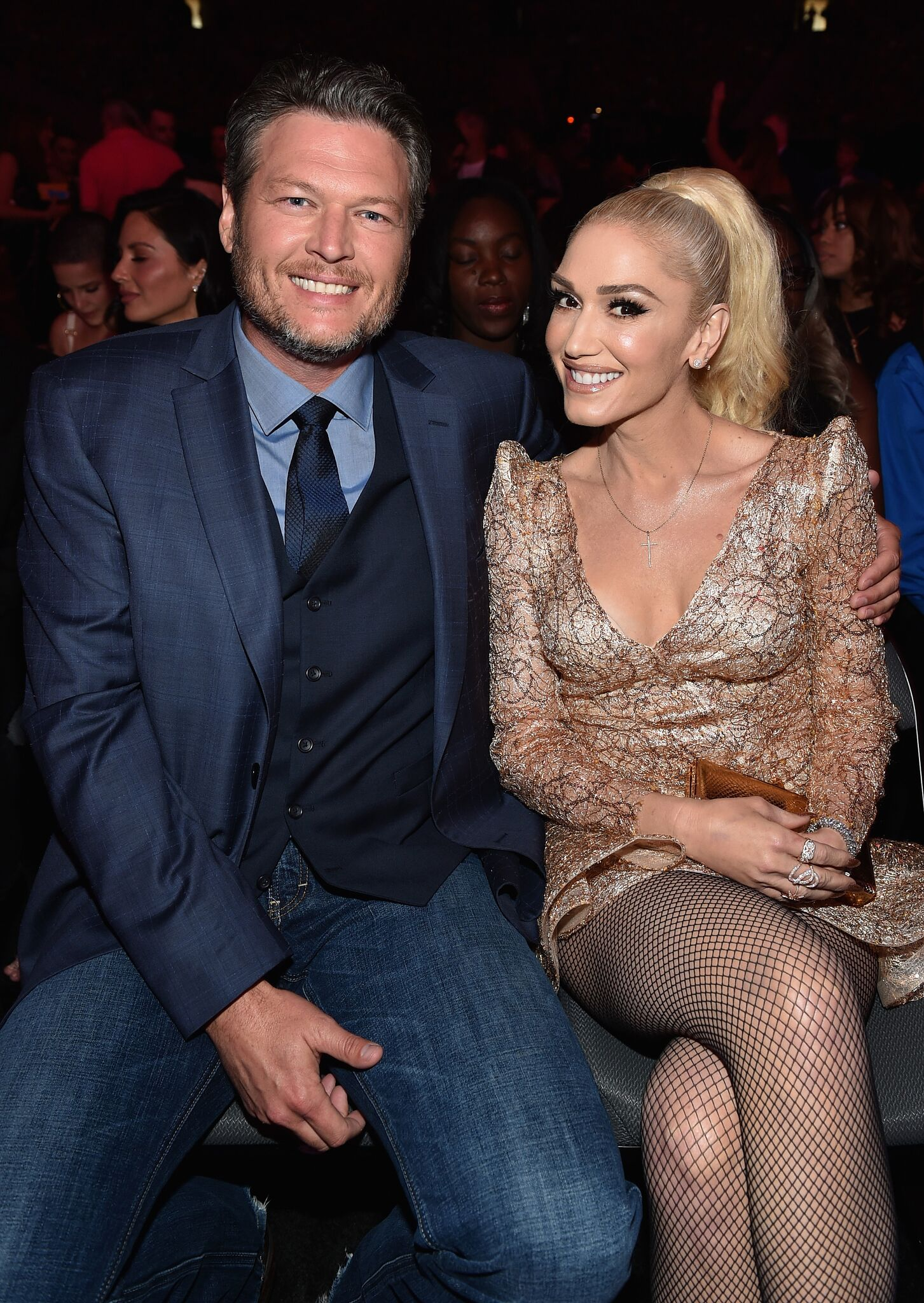 Recording artists Blake Shelton (L) and Gwen Stefani attend the 2017 Billboard Music Awards at T-Mobile Arena | Getty Images