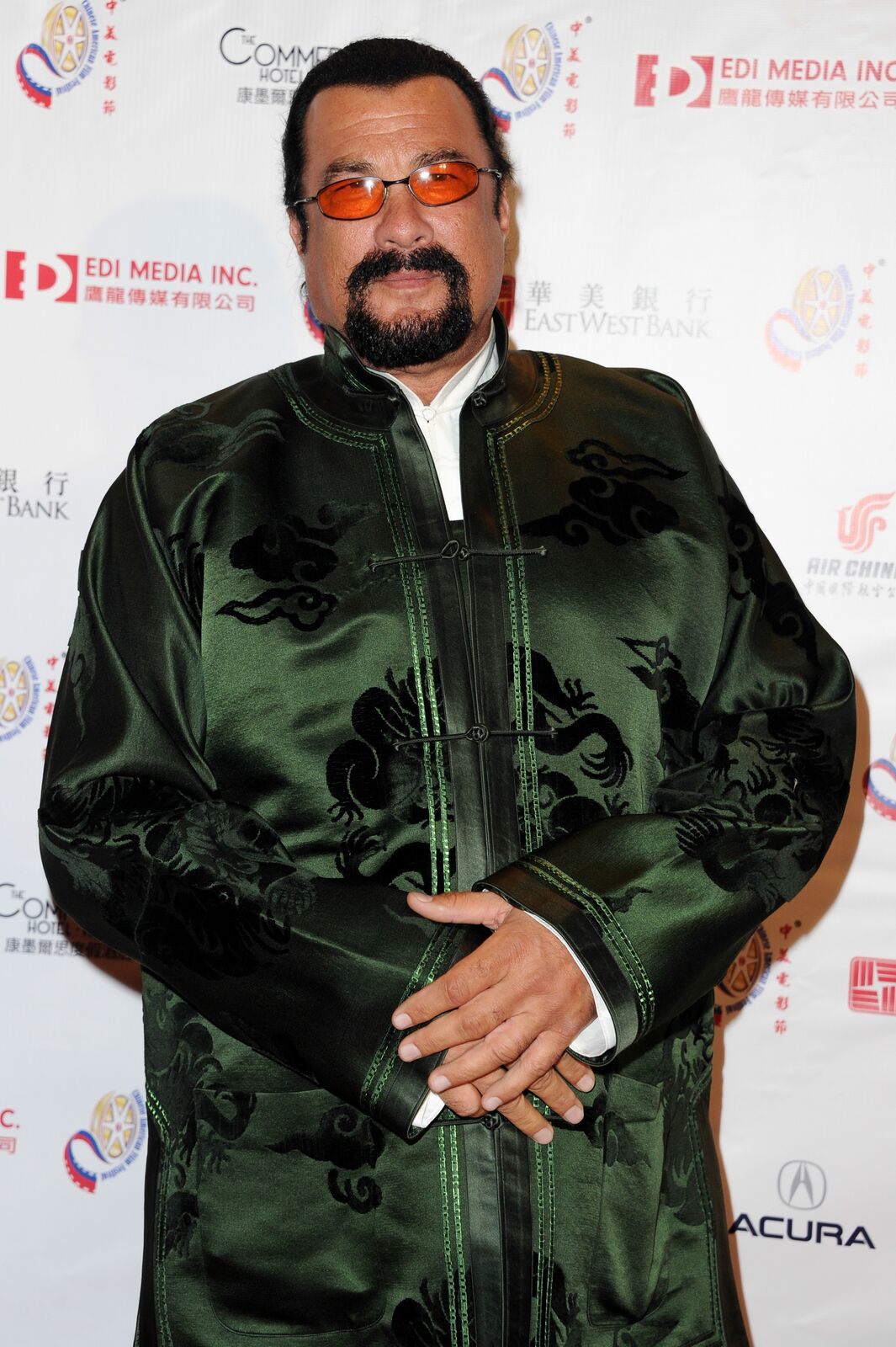 Actor Steven Seagal attends 2014 Chinese American Film Festival - Opening Night Ceremony at Pasadena Civic Auditorium on November 4, 2014 in Pasadena, California | Photo: Getty Images