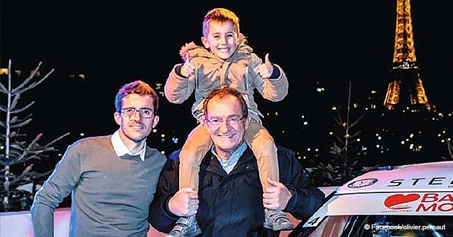 Jean-Pierre Pernaut, heureux père de famille, apparaît avec son fils Olivier et son petit-fils
