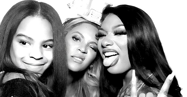Beyonce and Her Daughter Blue Ivy Pose for Picture with Megan Thee Stallion