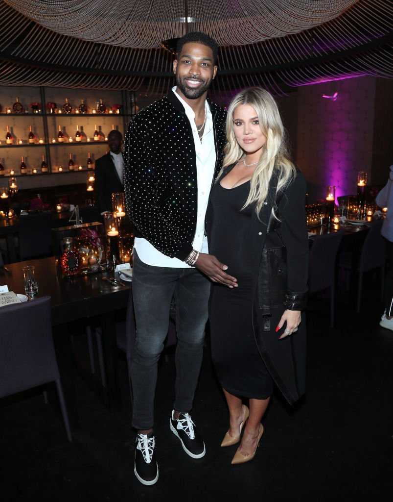 """ristan Thompson and Khloe Kardashian attend the Klutch Sports Group """"More Than A Game"""" Dinner on February 17, 2018 in Los Angeles, California. 