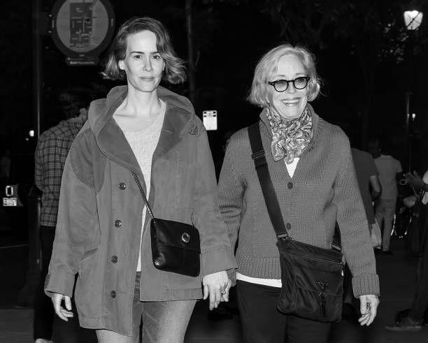 Sarah Paulson and Holland Taylor are seen out and about. | Source: Getty Images