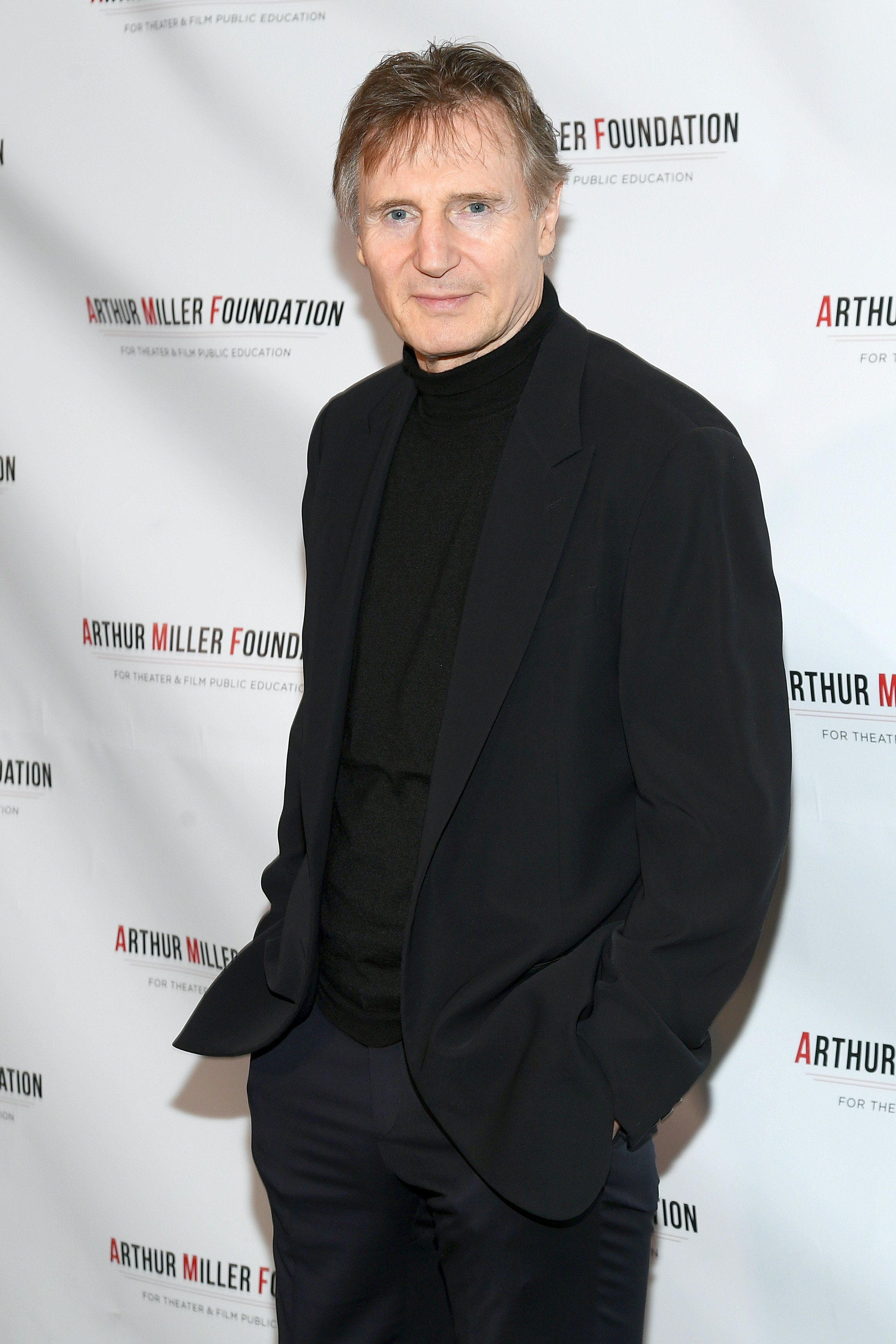 Liam Neeson at the 2018 Arthur Miller Foundation Honors in NYC on October 22, 2018.   Photo: Getty Images.