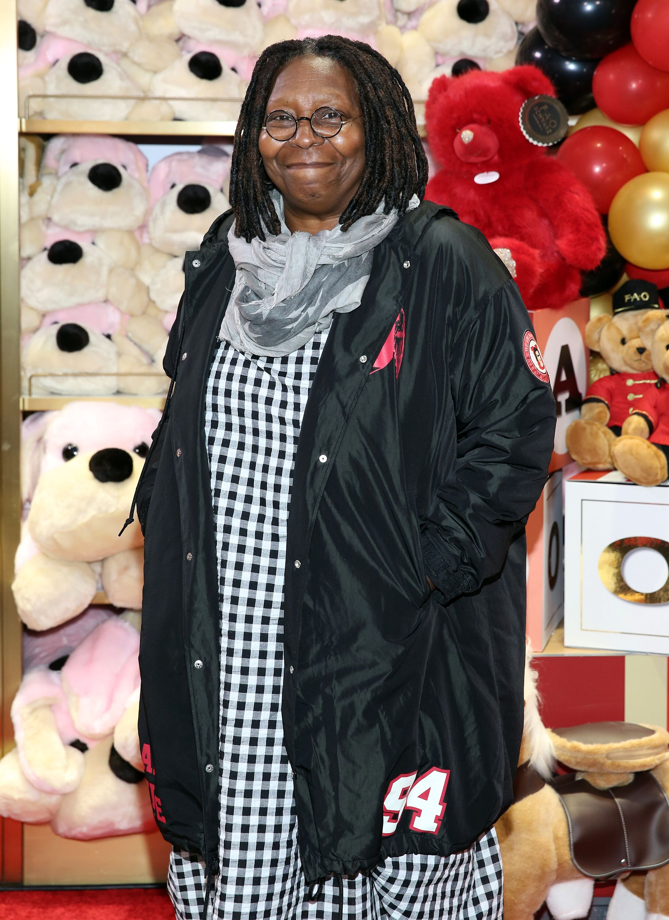 Whoopi Goldberg at the FAO Schwarz Grand Opening Event at Rockefeller Plaza in 2018 | Getty Images