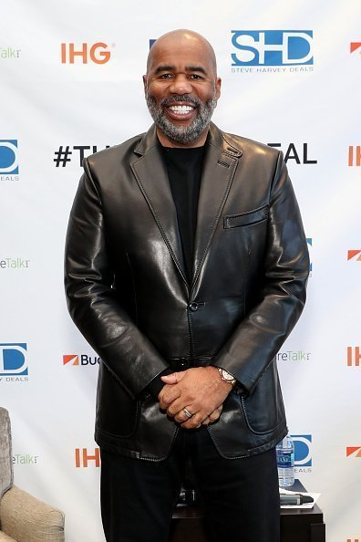 Steve Harvey at Atlanta Crowne Plaza Hotel on February 02, 2019 in Atlanta, Georgia. | Photo: Getty Images