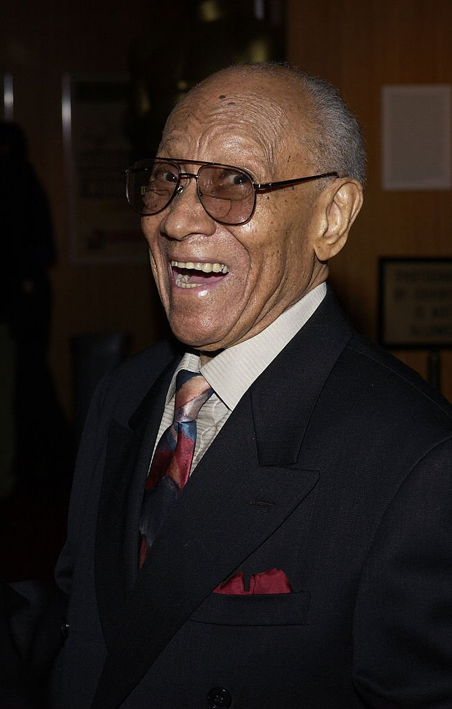 Dancer Dr. Fayard Nicholas arrives at the AMPAS Centennial Tribute at Beverly Hills on May 19, 2005. | Photo: Getty Images