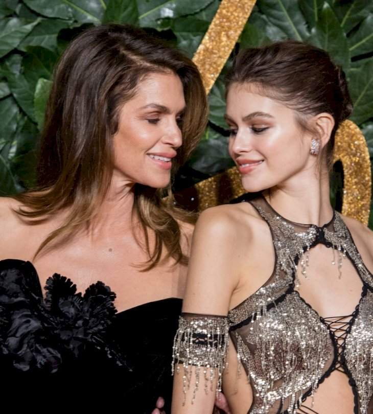 LONDON, ENGLAND - DECEMBER 10: Cindy Crawford, Kaia Gerber arrive at The Fashion Awards 2018 In Partnership With Swarovski at Royal Albert Hall on December 10, 2018 in London, England. (Photo by Samir Hussein/Samir Hussein/WireImage)