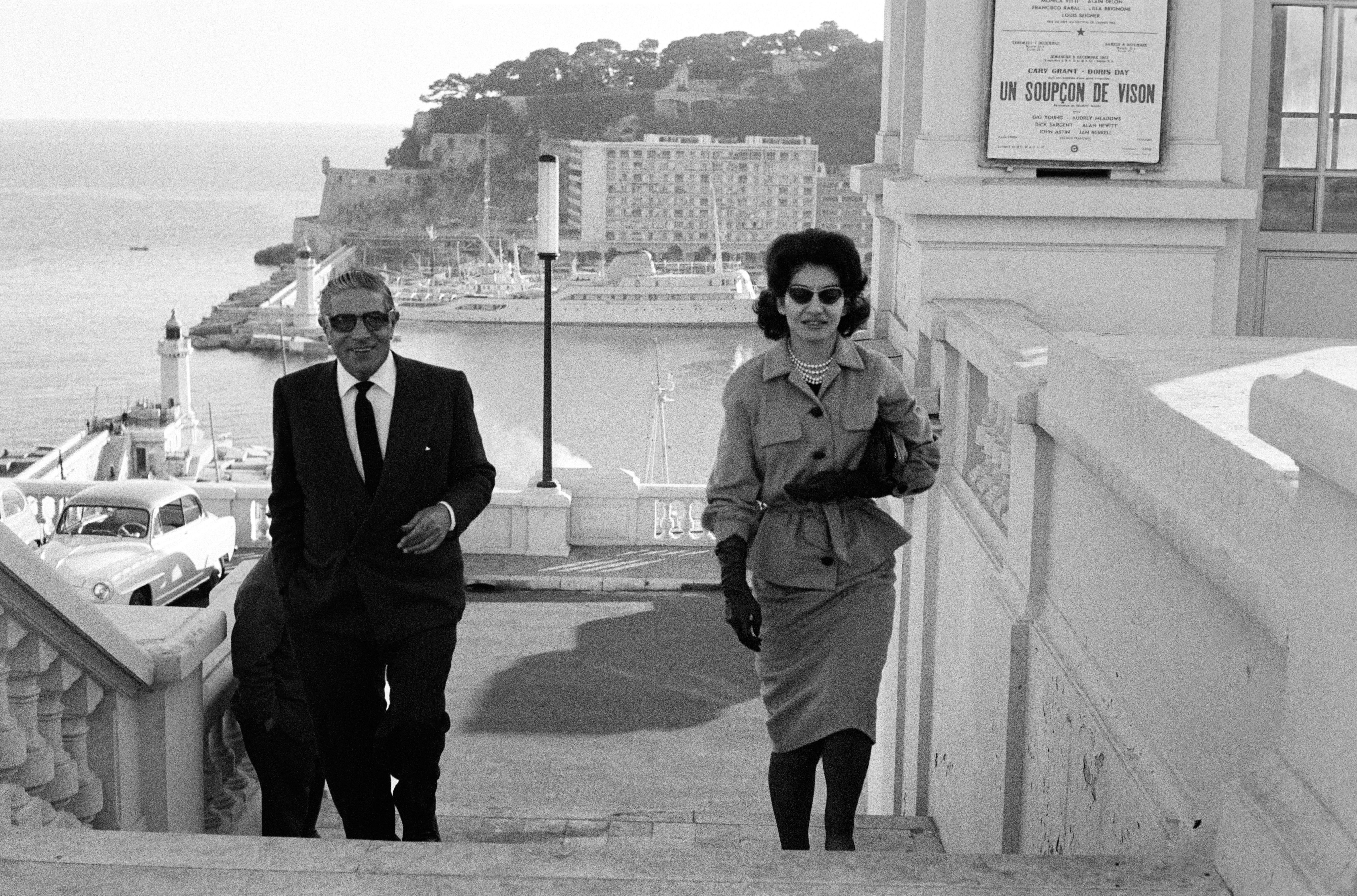 Aristotle Onassis and Maria Callas in Monte-Carlo, Monaco, in 1960 | Photo: Reporters Associes/Gamma-Rapho/Getty Images