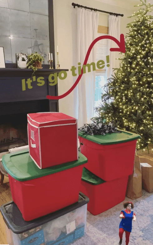 A yet to be decorated Christmas tree | Photo: Instagram/@joannagaines