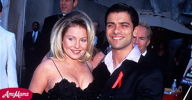 Actress Kelly Ripa, with actor Mark Consuelos arrive at the Soap Opera Digest Awards in Los Angeles, CA, February 28, 1997. | Source: Getty Images