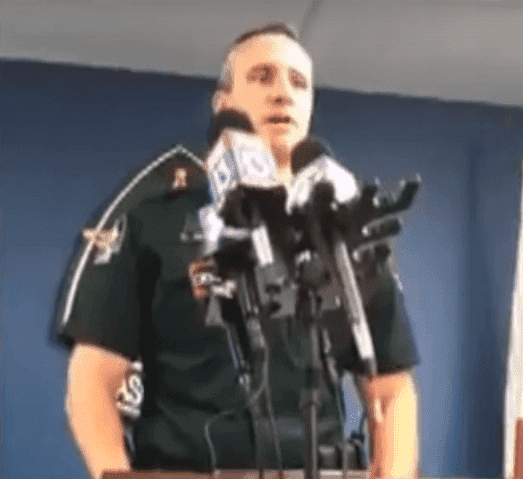 Pasco County Sheriff, Chris Nocco, making a statement | Photo: YouTube/News Live Now
