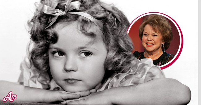 Shirley Temple as a child star Inset: During her adult years | Source: GettyImages