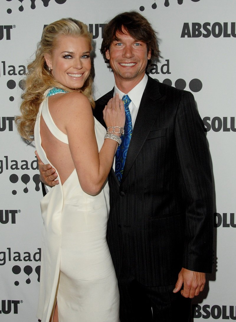Rebecca Romijn and Jerry O'Connell in Hollywood, California on April 14, 2007   Photo: Getty Images