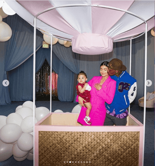 Stormi enjoying her party with her mom, Kylie Jenner and dad, Travis Scott | Instagram: Kylie Jenner