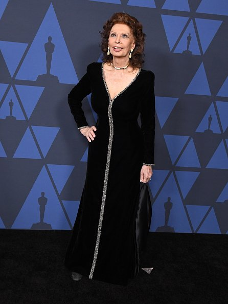 Sophia Loren arrives at the Academy Of Motion Picture Arts And Sciences' 11th Annual Governors Awards at The Ray Dolby Ballroom at Hollywood & Highland Center | Photo: Getty Images