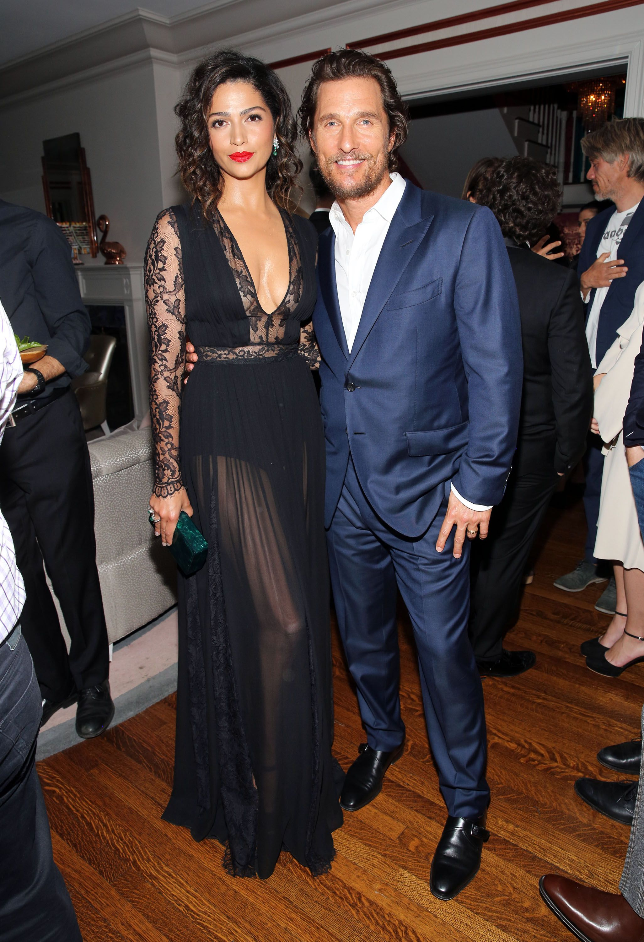 """Matthew McConaughey and Camila Alves attend as The Weinstein Company celebrates the cast and filmmakers of """"Sing Street,"""" """"Lion,"""" """"The Founder"""" and """"Gold"""" at the private residence of Jonas Tahlin on November 12, 2016 in Los Angeles, California. 